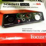 Focusrite Scarlett Solo G2 オーディオインターフェイス レビュー